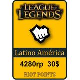 Tarjeta De Recarga De League Of Legends - 4280 Riot Points