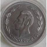 Moneda Ecuador 5 Sucres 1973 Muy Rara Y Escasa