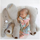 Peluche Almohada Para Bebes Forma Elefante Antiacaros 100cm