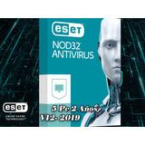 Eset Antivirus Nod32 | Licencia Para 5 Pcs, 2 Años