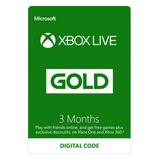 Xbox Gold Xbox Live Tarjetas Meses 1 Año Gift Cards Códigos