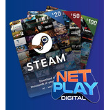 Steam Gift Billetera Recarga 5, 10, 15, 20, 50 Y 100 Códigos