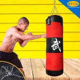 Saco De Boxeo Para Entrenamiento Fitness Mma 100x30x30