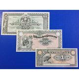 Ecuador, Set De 3 Billetes Banco Suramericano - Año1920 Unc