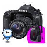 Canon 80d + Lente 18-135mm + Gratis!! Mochila + Memoria 64gb