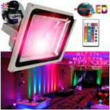 Reflector Led Rgb 10w 20w 30w 50w 100w Multicolor + Control