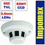 Camara Espia Detector Humo Sony Vigilancia Seguridad 24/7 Ir