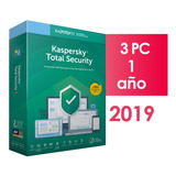 Kaspersky Total Security 3 Dispositivos 1 Año 2019 2018