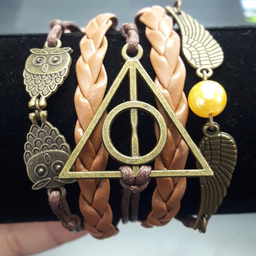 Pulsera De Harry Potter Reliquias Buho Snitch 5 Capas