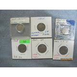 Monedas De 3 Centavos De Dólar De Los Años 1865 Y 1867