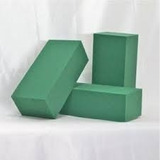 Oasis Espuma Floral Verde 22cm X 10cm X 7.5 Incluye Base