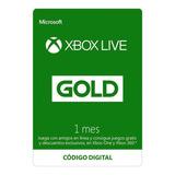 1 Mes Xbox Live Gold Para Xbox 360 / One Codigo
