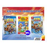 Nuevo Crash Team Racing Ps4 & Super Mario Maker 2 Switch $60