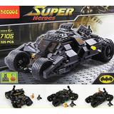 Muneco Batman Wason Batimovil Tipo Lego Importado 325pcs