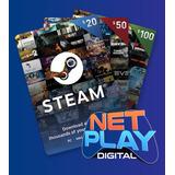 Steam Tarjetas De Recarga 5, 10, 20, 25, 30, 50, 60 Y 100