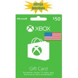 Tarjetas De Recarga Xbox Gift Card - Xbox Live $50