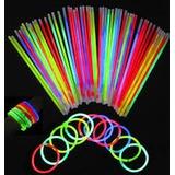 100 Pulseras Glow Neon Manillas Led Sticks Luminosas C/u