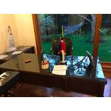 Escritorio Clásico Para Gerente,silla De Cuero,mesa Auxiliar