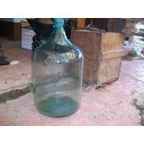 Antiguo Botellón De Vidrio, Para 50 Litros, Respectiva Tapa