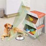 Mascotas Caja Almacenadora De Comida Perros Gatos