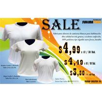 Camisetas Para Sublimación,tacto Algodón, Desde 3,49 X Myr .