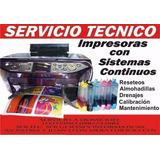 Servicio Técnico A Domicilio  Impresoras Tinta Continua