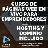 Curso De Páginas Web Con Hosting Y Dominio Incluido Soporte