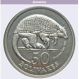 Moneda 50 Bolívares 1975 Moneda Plata Lei 925 De 35 Gramos