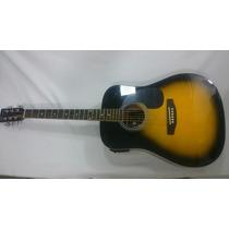 Guitarra Electroacústica + Estuche + Vitelas + Cable + Clips