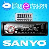 = S A N Y O = Radio De Auto Mp3 U S B Fm Bluetooth + Control