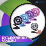 Ventilador Portable Recargable, Clip Con Batería De Litium