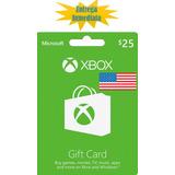Tarjetas De Recarga Xbox Gift Card - Xbox Live $25