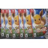 Pokemon Let's Go Eevee Switch - Nuevos Y Sellados