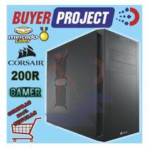 Case Gamer Corsair 200r Carbide Atx Tapa Mallada Sin Fuente