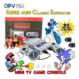 Mini Consola 100 Juegos Clasicos Super Nintendo Mario Donkey
