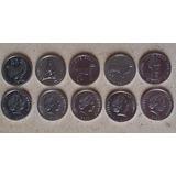 Islas Cook Oceania Juego De 5 Monedas Flamantes Serie