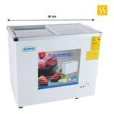 Congelador Refrigerador 210 Litros Tapa De Vidrio Con Llaves