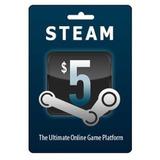 Tarjeta De Recarga Para Steam 5 Usd - Juegos De Pc