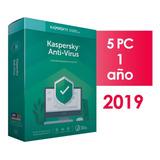 Kaspersky Anti-virus 5 Pc 1 Año 2019 2018