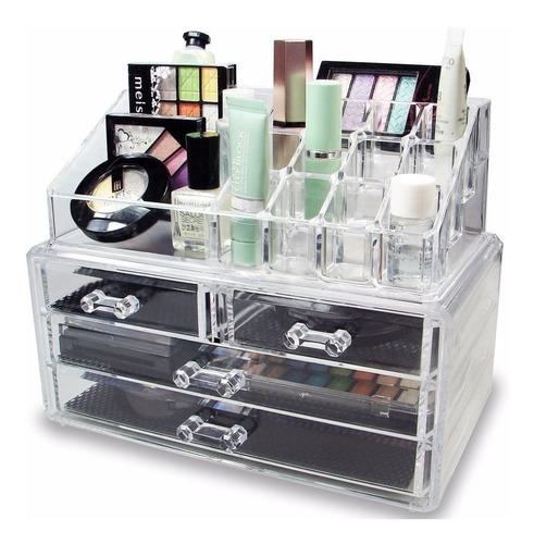 Organizador De Lujo Para Maquillaje Tipo Cristal Acrílico