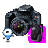 Camara Canon T100 T6 + G R A T I S Maleta + Tripode + 128gb