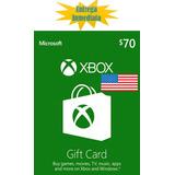 Tarjetas De Recarga Xbox Gift Card - Xbox Live $70