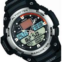 89ec0e78e4c6 Reloj Casio Sgw-400hd Acero Altimetro Barometro Termometro
