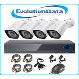 Kit 4 Camaras Seguridad Sistema Completo Dvr Cctv Vigilancia
