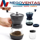 Moledora Para Cafe Con Doble Recipiente De Vidrio