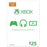 Xbox Live Gift Card $25