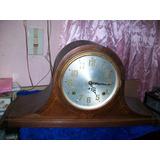 Antiguo Reloj Campanario De Mesa, A Cuerda 49 Ctms. U.s.a.