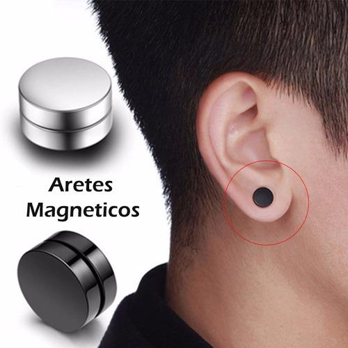 d89bbf815a0d El Par Aretes Magnéticos Iman 10mm Acero Inoxidable Unisex