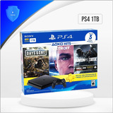 Ps4 Play Station 4 Slim 1 Tb + 3 Juegos / Garantía Un Año