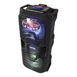 Parlante Caja Amplificada Doble Bajo De 6 Bluetooth 20000w